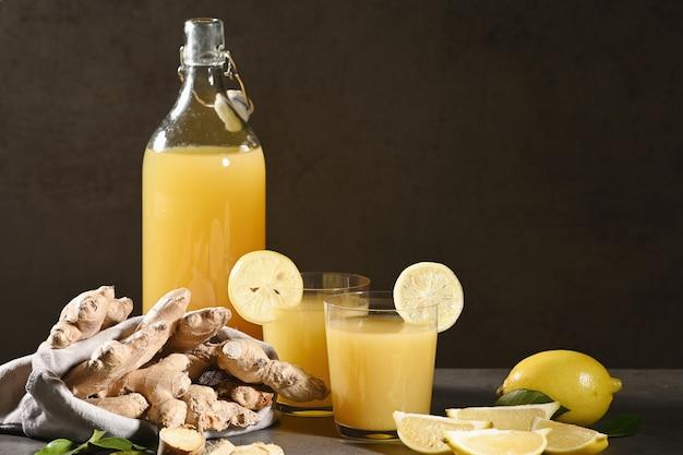 Pineapple and lemonade drink