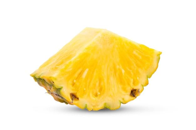 白い背景の上のパイナップル