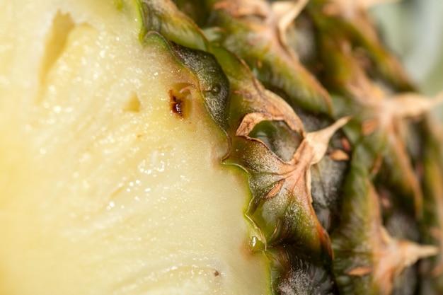 Мякоть ананаса сочная спелая свежая спелая идеально на сером