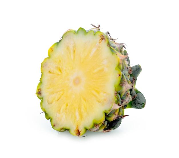 Pineapple slice on white