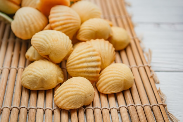 Pineapple tarts or pineapple cake is a sweet traditional taiwanese pastry.