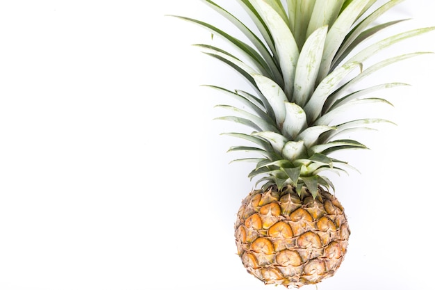 Pineapple on a white