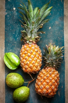 Pineapples and tropical fruits