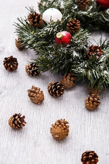 Pinecones and fir