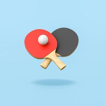 Игра в пинг-понг на синем фоне