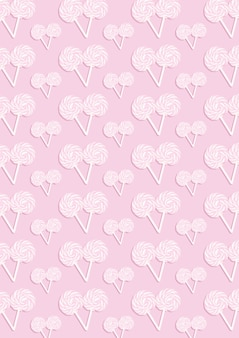 The pink abstract pattern of many candys