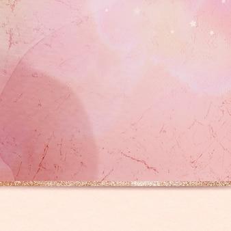 Fondo scintillante dorato di marmo estetico rosa
