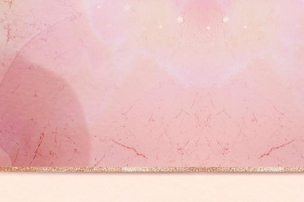 ピンクの審美的な大理石(金色のキラキラ光る背景