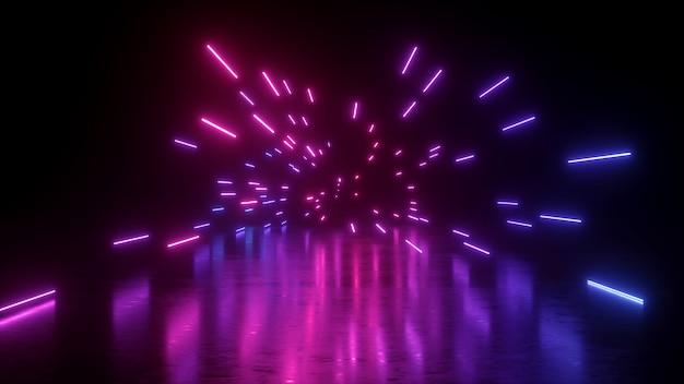 ピンクとブルーのネオンライト
