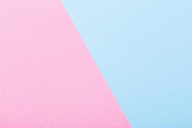 ピンクとブルーの紙の背景