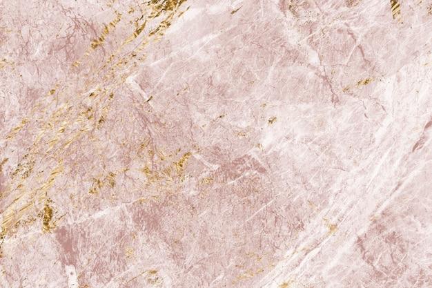 ピンクとゴールドの大理石の質感