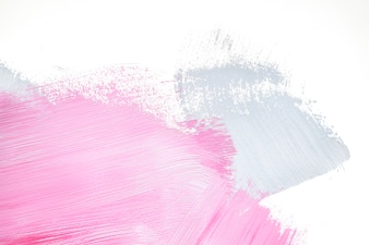 Pink and gray abstract strokes