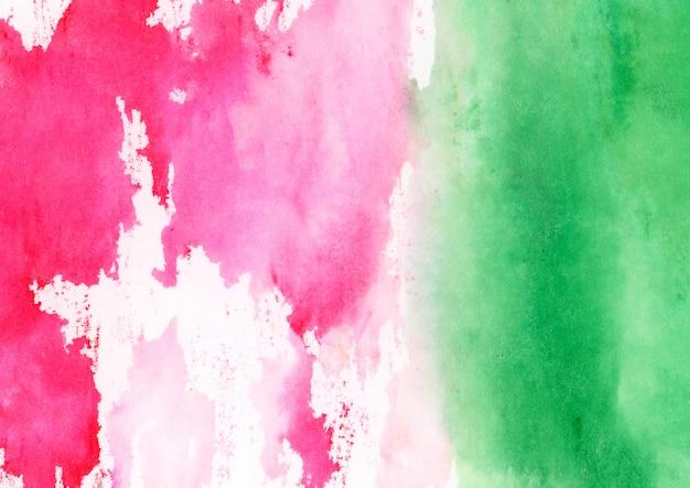 ピンクとグリーンの水彩テクスチャ