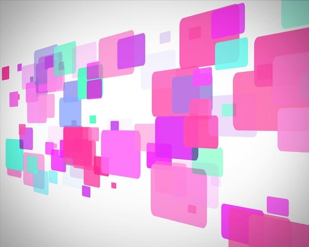 ピンクとターコイズの長方形の動き
