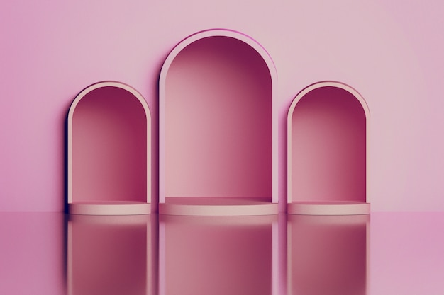 Pink arches