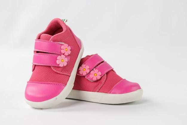 핑크 아기 소녀 신발