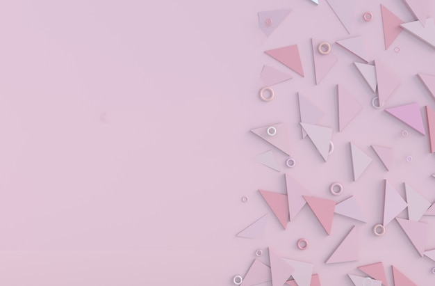 Pink background of love on valentine`s day