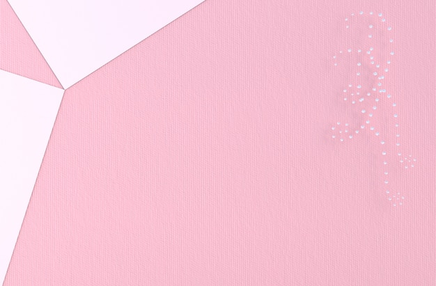 Pink background of love with diamond, jewelry heart. on valentine's day.
