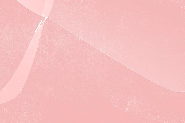 금이 간 유리 질감이 있는 분홍색 배경