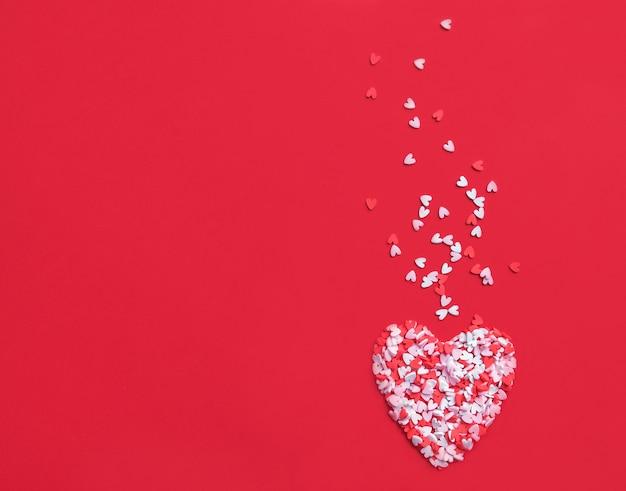 발렌타인 하트와 핑크 배경입니다. 추상적 인 배경 화면.