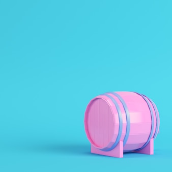 Pink barrel with a tap in pastel colors