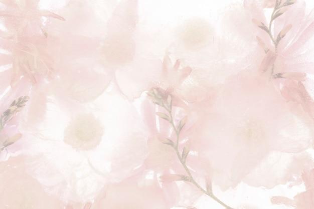 핑크 개화 아네모네 꽃 배경