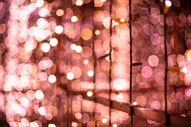 Pink bokeh blurred lights background