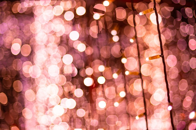 Pink bokeh blurred lights background