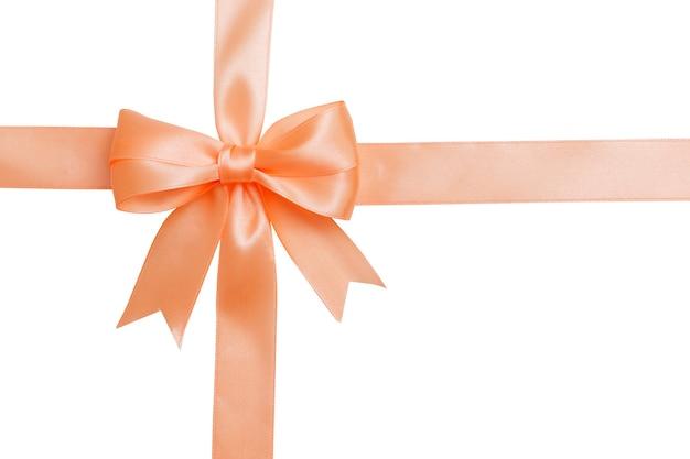 핑크 나비와 리본 흰색 배경에 고립입니다. 단열재.