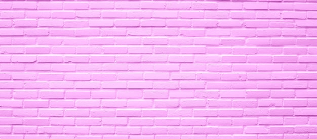 Pink brick wall texture for background.