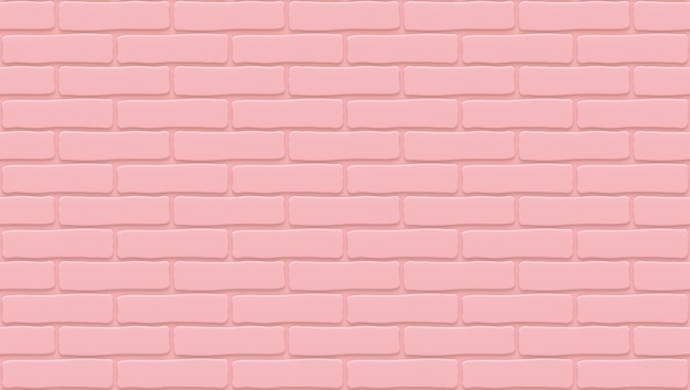 Pink brick wall texture. empty background. vintage stonewall.