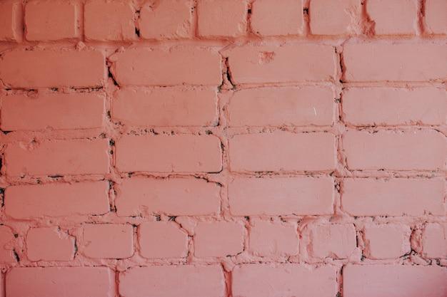 Pink bricky wall.