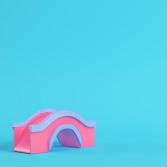 明るい青のピンクの橋