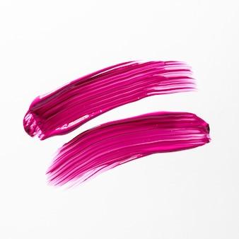 흰색 바탕에 분홍색 붓