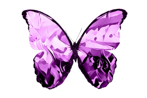 Розовые бабочки, изолированные на белом фоне. тропические бабочки. насекомые для дизайна. акварельные краски