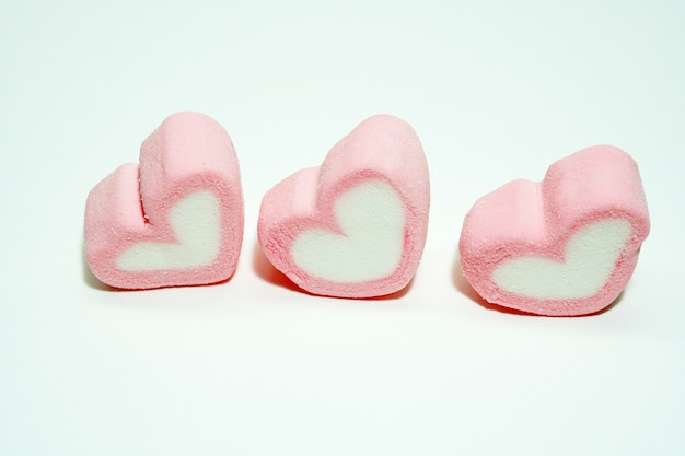 Pink candy hearts for valentines day