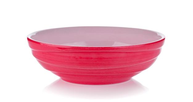 白地にピンクのセラミックボウル