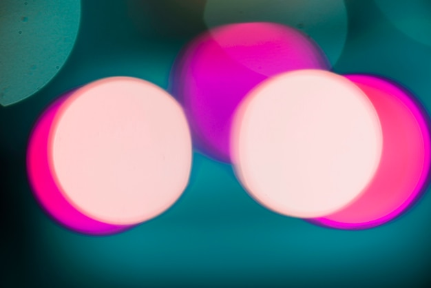 Sfondo di luci al neon circolare rosa