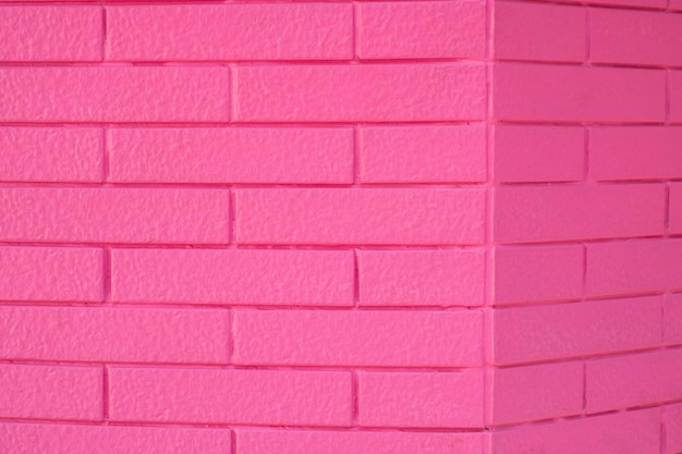 Pink color brick wall texture for graphic background images
