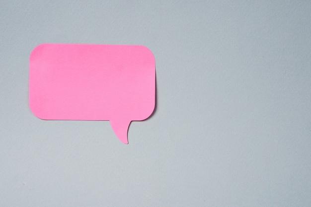 핑크 커뮤니케이션 스티커 격리 된 배경 편지지