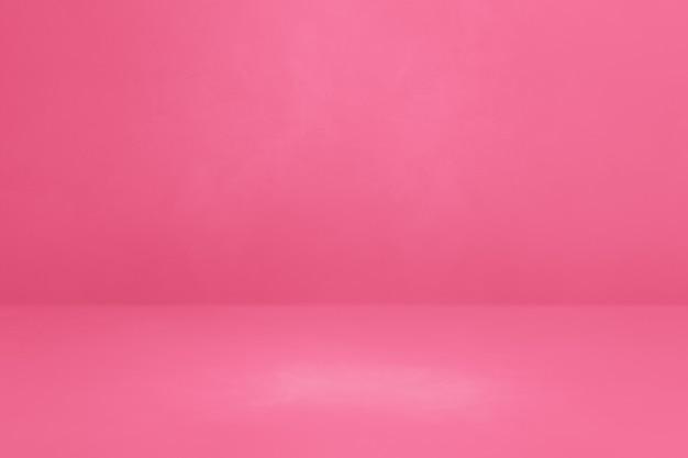 ピンクのコンクリートのインテリアの背景。空のテンプレートシーン
