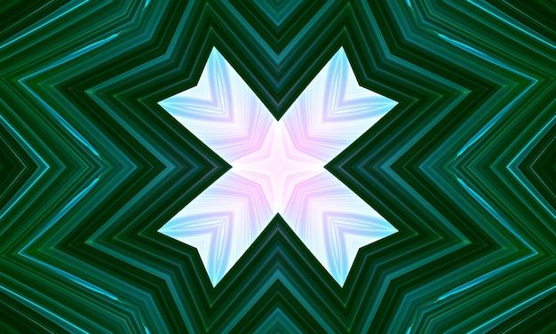 緑のbackgroyndのピンクの十字架。小さな花のシルエット、ダイヤモンドの形、十字架、矢印、グリッドのシンプルな飾り。ピンク、ローズ、グリーン、ベージュ色の抽象的な背景。エレガントなデザイン。