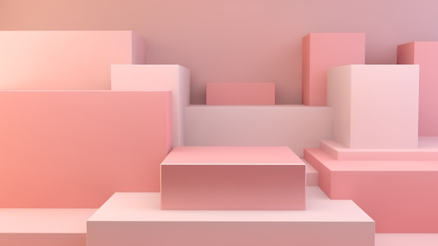 Pink cubes platform