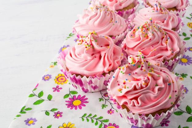 Pink delicious cupcakes