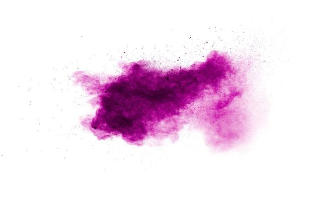 Pink dust splatter