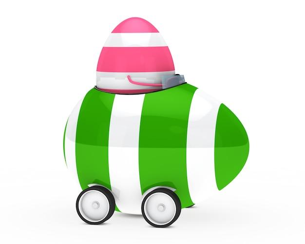Розовый яйцо в гонке