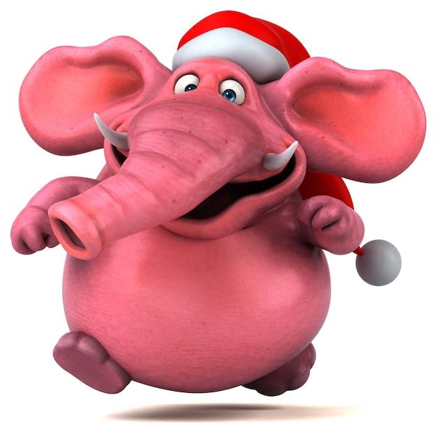 ピンクの象-3dイラスト