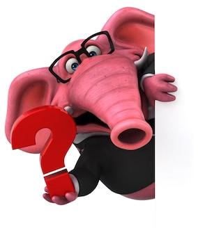 Розовый слон - 3d иллюстрации