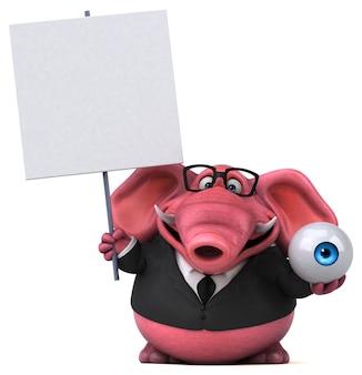 분홍 코끼리 -3d 일러스트