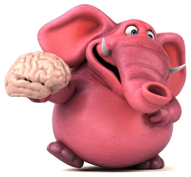 Розовый слон анимация